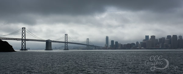 Gloomy Bay Bridge & San Francisco